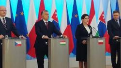 Premier Szydło na wspólnej konferencji szefów rządów V4 - miniaturka