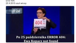 Internet śmieje się z Ewy Błąd - 404 - miniaturka