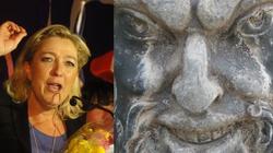 V kolumna... szatana? Le Pen zakaże krzyżyków - miniaturka