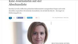 Niemieckie media zmartwione. Pierwsza ofiara krwawego reżimu PiS! Karolina Lewicka - dziennikarka, która się nie boi - miniaturka