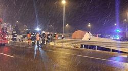 Tragiczny wypadek autokaru na autostradzie a4 przy zjeździe na Kaszyce - miniaturka