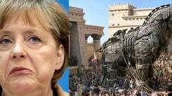Merkel jako Kobyła Trojańska - w ogniu krytyki - miniaturka