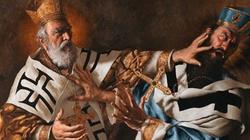 Święty Mikołaj biskup spoliczkował bp Ariusza za herezje - miniaturka