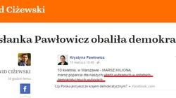 Boże, Ty widzisz, a nie grzmisz! Portal Lisa przeszedł sam siebie i straszy, że Pawłowicz obaliła demokrację w Polsce! - miniaturka