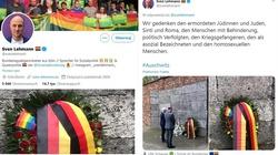 Auschwitz. Niemiecki deputowany upamiętnia ofiary LGBT. O Polakach ... zapomniał - miniaturka