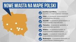 Na mapie Polski pojawiło się 7 nowych miast. Oto one - miniaturka