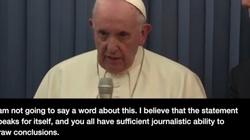 Oto nagranie, na którym papież Franciszek odpowiada na oskarżenia abp. Vigano - miniaturka