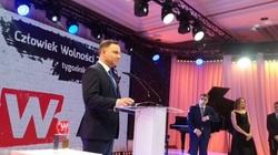 Prezydent Andrzej Duda został Człowiekiem Wolności 2015 - miniaturka