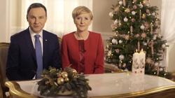 Życzenia świąteczne od prezydenckiej pary ZOBACZ WIDEO - miniaturka