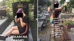 Nastolatki z emblematami LGBT skakały po grobach - miniaturka