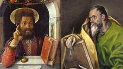 Kłótnia o 'białą kiełbasę' św. Marka ze św. Łukaszem - miniaturka
