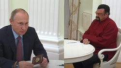 Steven Seagal, nowy członek rosyjskiej partii, wzywa w imieniu Rosji do demilitaryzacji przestrzeni kosmicznej - miniaturka