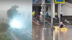 [Wideo] Ogromna ulewa w Moskwie, wybuch i podtopienia - miniaturka
