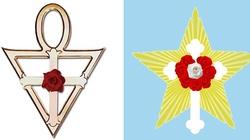 """Uwaga na heretycki symbol """"Krzyż z różą""""  - miniaturka"""