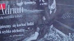 Trumna i ks. Twardowski. Skandaliczna reklama rajstop - miniaturka