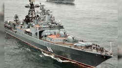 Rosyjski niszczyciel wpłynął na Morze Czarne. Należy do głównej siły uderzeniowej Floty Północnej FR - miniaturka