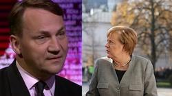 Sikorski o Merkel: Jest propolska na wzór Ottona III - miniaturka