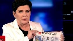 Wicepremier Szydło z 'Wyborczą' w ręku: Oto stosunek opozycji do Polaków! - miniaturka