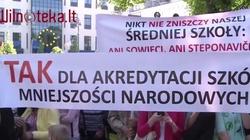 Strajk w obronie polskich szkół na Litwie - miniaturka