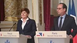 Premier Szydło w Paryżu: Musimy wzmocnić zewnętrzne granice Unii Europejskiej! - miniaturka