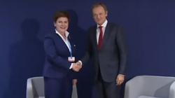 """Premier Szydło spotkała się z Tuskiem. """"To dobre spotkanie"""", """"Prawie jak domu"""". ZOBACZ NAGRANIE! - miniaturka"""