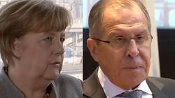 Pilne spotkanie Merkel i Ławrowa - miniaturka