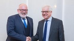 Czaputowicz: Na spotkaniu z Timmermansem nie było mowy o ustępstwach ze strony Polski - miniaturka