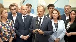 Donald Tusk: ,,Proszę o zrozumienie i wybaczenie pana Ziobry i jego małżonki'' - miniaturka
