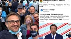 Agitacja na Trzaskowskiego na profilu samorządu gminy Ursynów w Warszawie - miniaturka