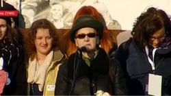 Żona Wałęsy na marszu KOD: Kaczyński jest małym człowieczkiem - miniaturka