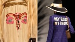 Suknia z haftowaną macicą dla uczczenia aborcji - miniaturka