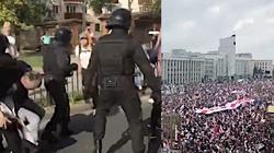 Białorusini wciąż protestują. Tysiące osób na ulicach, OMON pałuje i używa gazu - miniaturka