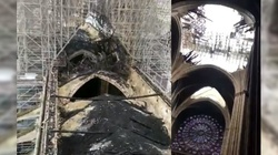 Ten film z dachu Notre-Dame pokazuje skalę zniszczeń po pożarze [ZOBACZ] - miniaturka