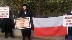 Ortodoksyjni Żydzi w obronie Polski przed ambasadą w Tel Awiwie  - miniaturka