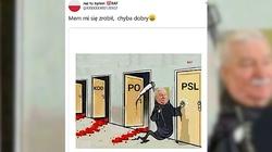 ,,No to po PSL''. Internet komentuje deklarację Wałęsy - miniaturka