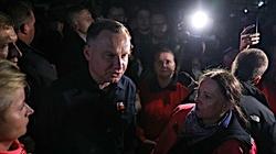 Podtopienia w Polsce. Prezydent Duda w Łapanowie: Sytuacja jest dramatyczna - miniaturka
