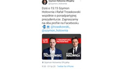 No i mamy jasność! Wspólny live Hołowni i Trzaskowskiego. ,,Komedia z antypartyjnością Hołowni skończona'' - miniaturka