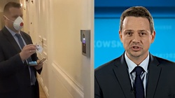 ,,Ratusz nie działa. Kampania wyborcza...''. Posłowie PiS chcieli rozmawiać z Trzaskowskim, zastali zamknięte drzwi - miniaturka