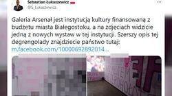 Białystok: Ohydna wystawa w galerii dotowanej przez samorząd. ,,Raz młotem raz ch***m''' - miniaturka