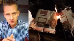 Międlar spalił zdjęcie Mazowieckiego i nazwał go ,,parchem''. Teraz może mieć poważne kłopoty - miniaturka