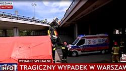 Pilne! Tragedia w Warszawie - autobus spadł z wiaduktu. Jedna osoba nie żyje, wielu rannych - miniaturka