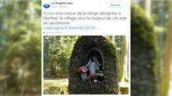 Francja: Szokująca profanacja!!! Dwa dni po pożarze Notre-Dame ucięto głowę figurze Matki Bożej - miniaturka