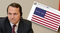 Po prostu dno! Sikorski na Twitterze zamieścił flagę USA z ośmioma gwiazdkami - miniaturka