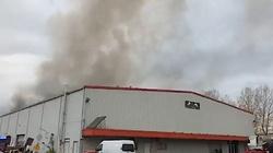 Pożar hali w Warszawie. Kilkanaście zastępów straży pożarnej w akcji, w drodze są kolejne jednostki - miniaturka
