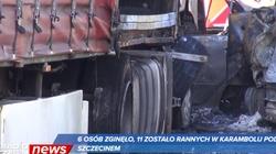 Karambol pod Szczecinem. Kierowca ciężarówki aresztowany - miniaturka
