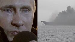Ups ,,ruskie trolle'': Płonie ,,Admirał Kuzniecow'' - miniaturka