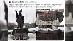 Szczecin. Kolejna bezczelna dewastacja pomnika św. Jana Pawła II - miniaturka