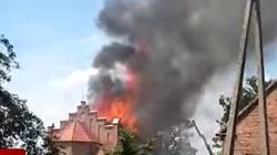 Pożar kościoła św. Apostołów Piotra i Pawła! Runęła część dachu - miniaturka