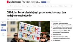 """""""Wyborcza"""" pedagogika wstydu. Niewykształcony Polak to ksenofob i rasista - miniaturka"""