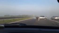 Nagrał wypadek samochodowy na A4 ZOBACZ! - miniaturka